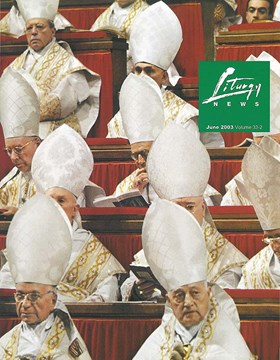 Liturgy News June 2003 cover image
